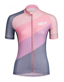 Women's Cycling Jersey DIAGONAL Sakura
