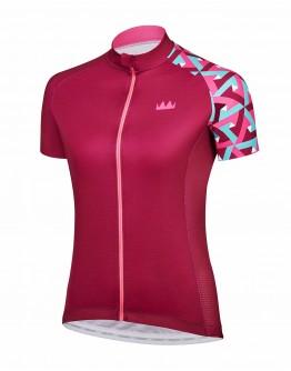 Women's Cycling Jersey JOUER VELO Burgundy