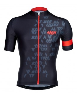 Men's Cycling Jersey CRYSTAL Black Red