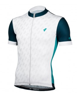 Men's Cycling Jersey CHECKED White Blue