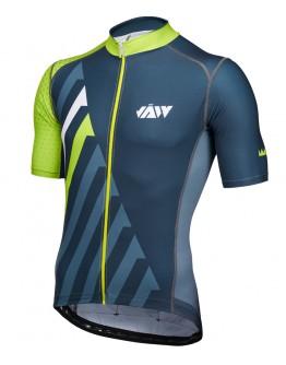 Men's Cycling Jersey SPRINT Black Grass Green