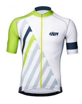 Men's Cycling Jersey SPRINT  White Grass Green