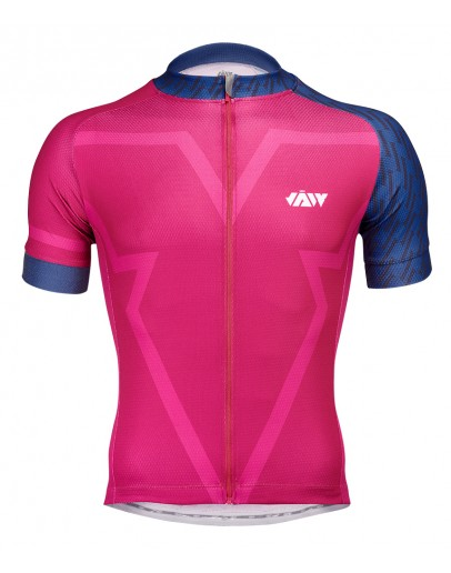 Men's Cycling Jersey BIG V Magenta