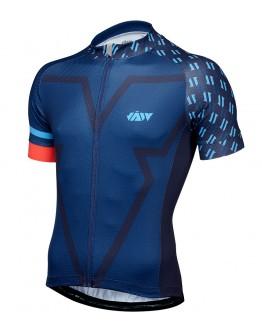 Men's Cycling Jersey BIG V Navy Blue