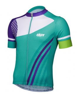 Men's Cycling Jersey GALLOP Turquoise Blue