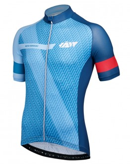 Men's Cycling Jersey MOVE FORWARD Sky Blue