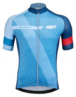 Men's Cycling Jersey MOVE FORWARD Sky Blue