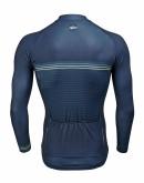 Men's Long Sleeves Cycling Jersey-STRIPES blue black
