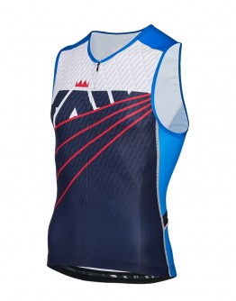 Men's Tri Singlet RADIANT Navy Blue