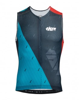 Men's Tri Singlet JAW TEAM Black Green Red