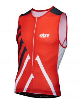 Men's Tri Singlet SPRINT RED