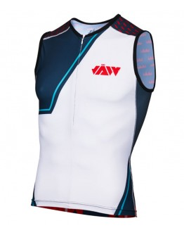 Men's Tri Singlet BIG J White Grey
