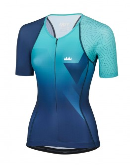 Women's Tri Top PRIME Peacock Blue