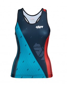 Women's Tri Singlet JAW TEAM Black Green