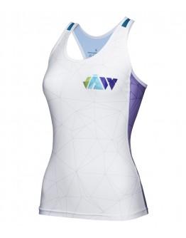 Women's Tri Singlet CRYSTAL White Blue