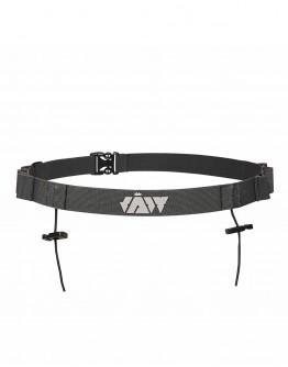 JAW Triathlon Race Belt - Reflective/Gray 85cm