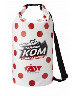 JAW X TAIWAN KOM CHALLENGE One Shoulder Strap Dry Bag  SPECIAL Red dots 15L