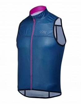 Wind/Water Resistant Cycling Vest JOUER VELO Navy Blue Unisex
