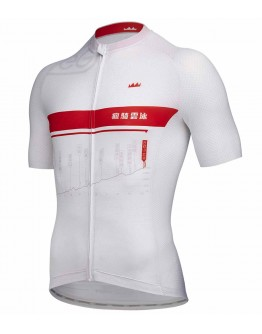 Men's Cycling Jersey GEG KOM Wuling Challenge White