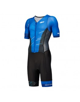 Men's Tri Suit with short sleeves Meteor Sapphire