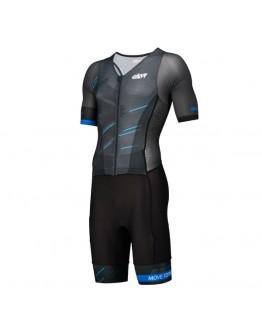 Men's Tri Suit with short sleeves Meteor Black