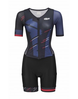 Women's Tri Suit with short sleeves Meteor Black