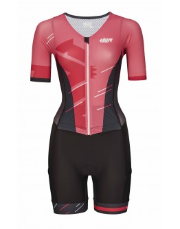 Women's Tri Suit with short sleeves Meteor Rose