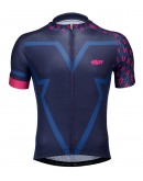 Men's Cycling Jersey BIG V Blue Black