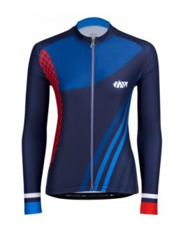 Women's Long Sleeves Cycling Jersey GALLOP Royal Blue