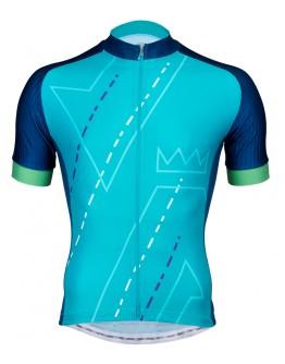 Men's Cycling Jersey DOMAIN Aqua Blue