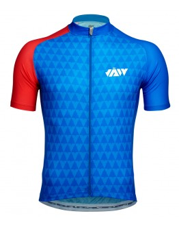 Men's Cycling Jersey VECTOR Blue Red