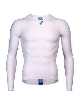 Men's Long Sleeves Cycling Base Layer MOVE FORWARD White