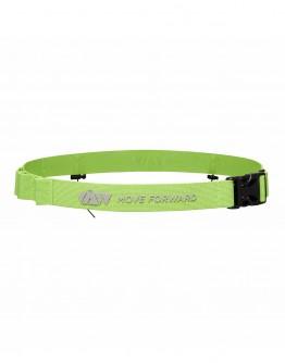 JAW Triathlon Race Belt - Reflective/Green 75cm