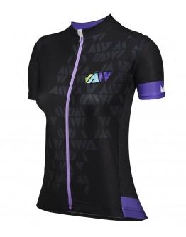 Women's Cycling Jersey CRYSTAL Black Purple
