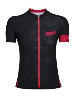 Women's Cycling Jersey CRYSTAL Black Fuchsia