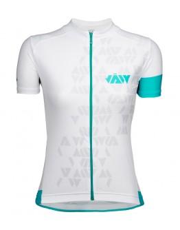 Women's Cycling Jersey CRYSTAL White Aqua Blue
