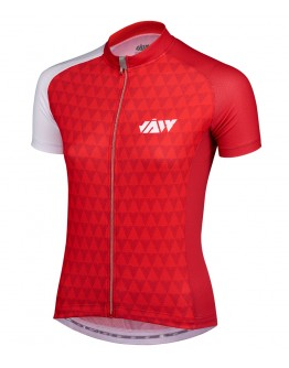 Women's Cycling Jersey VECTOR Red