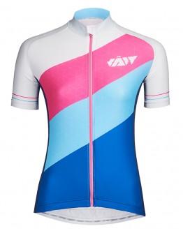 Women's Cycling Jersey DIAGONAL Modern White