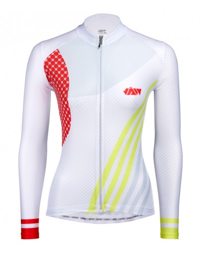 Women's Long Sleeves Cycling Jersey GALLOP White