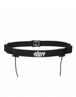 JAW Triathlon Race Belt - Reflective/Black 95cm