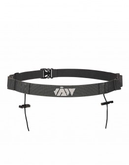 JAW Triathlon Race Belt - Reflective/Gray 85cm
