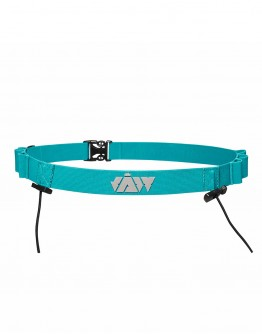 Triathlon Race Belt - Reflective/Turquoise 85cm