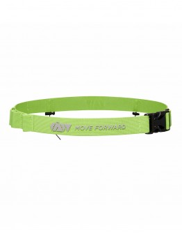 JAW Triathlon Race Belt - Reflective/Green 75cm
