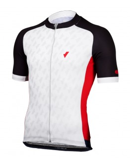 Men's Cycling Jersey CHECKED Black Red