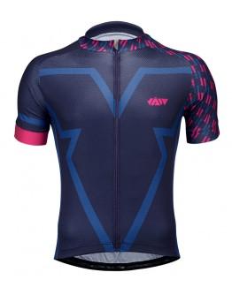 Men's Cycling Jersey BIG V Blue Black