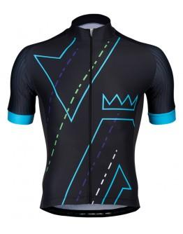Men's Cycling Jersey DOMAIN Black