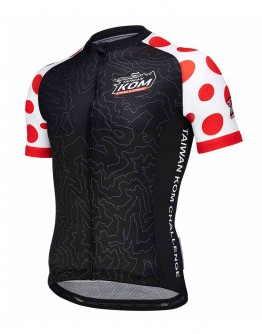Men's Cycling Jersey JAW X TAIWAN KOM CHALLENGE - CHAMPION Black Red
