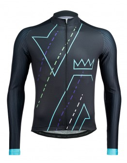 Men's Long Sleeves Cycling Jersey DOMAIN Black