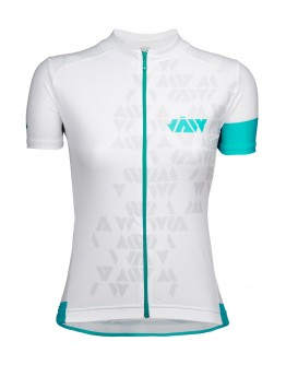 Women's Cycling Jersey CRYSTAL White Aqua Blue