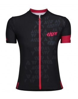 Women's Cycling Jersey CRYSTAL Black Fuchsia